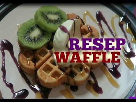 cara membuat ice cream waffle resep egg waffles doovi
