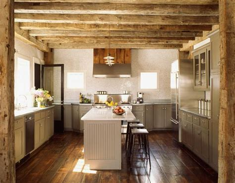 Kitchen Ceilings With Beams by Exposed Wood Beams Country Kitchen S Groves