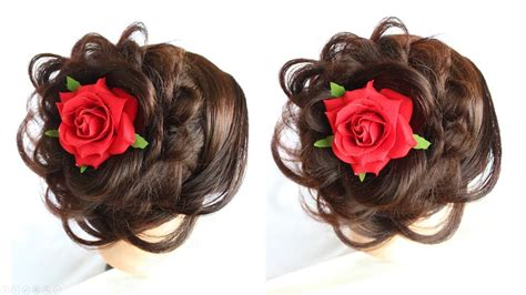 Easy Flower Hairstyles by Easy Layered Flower Bun Hairstyle Easy Hairstyles