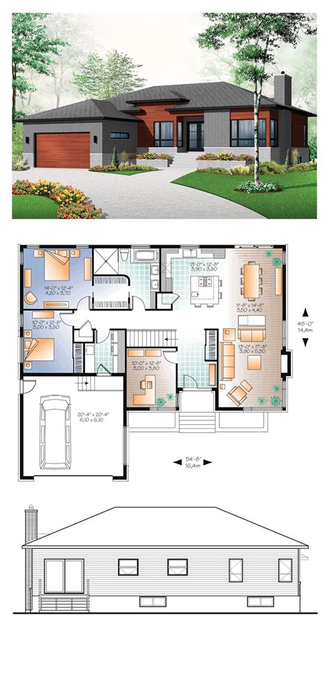contemporaryn house plans style affordable home prairie 97
