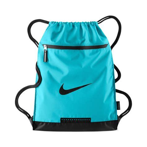 nike team gymsack bag in blue for lyst