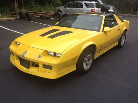1986 camaro z28 t tops v8 iroc gts automatic yellow no