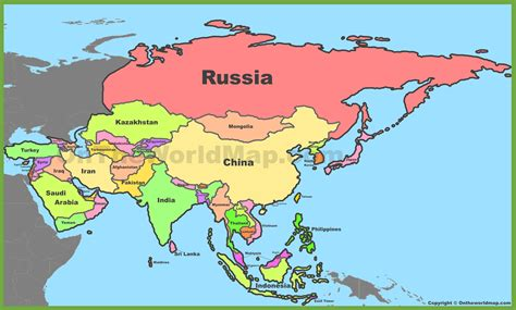 political map of asia with capitals asia maps maps of asia ontheworldmap