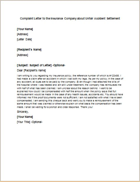 Complaint Letter To Insurance Company complaint letter about co worker or colleague