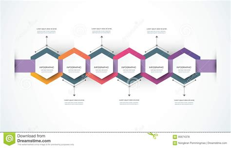 vector infographics timeline design template stock vector