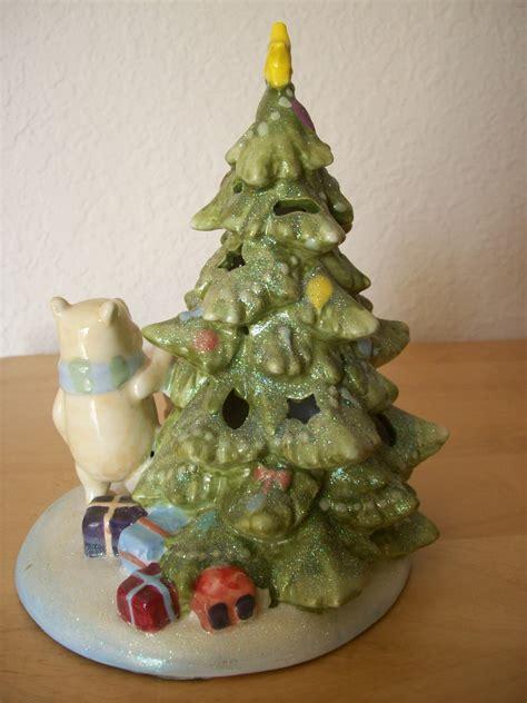 disney classic winnie the pooh ceramic lighted christmas