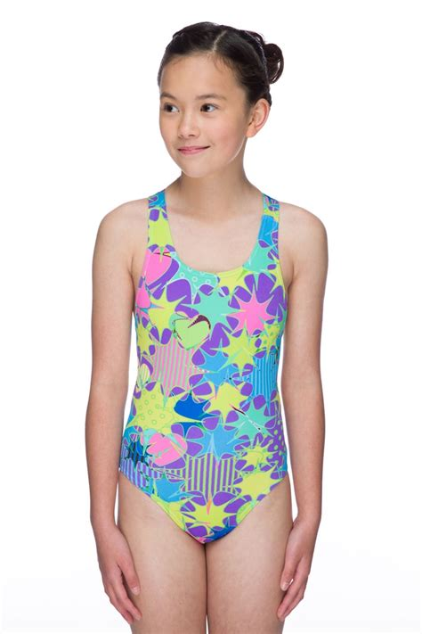 girls swimsuits sporty swim store maru junior girls astro pacer rave back