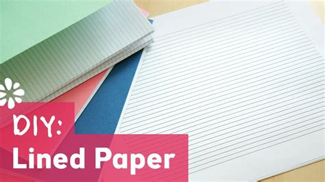 How To Make Lined Paper - diy lined paper for bookbinding sea lemon