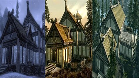 Skyrim HEARTHFIRE: ALL 3 HOUSES [Falkreath,Morthal