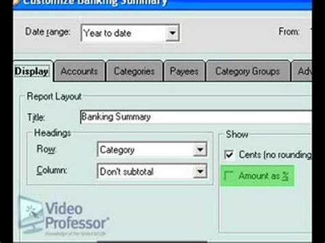 quicken tutorial youtube quicken 174 reports graphs design tutorial by video