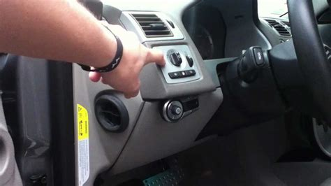 volvo  light switch removal youtube