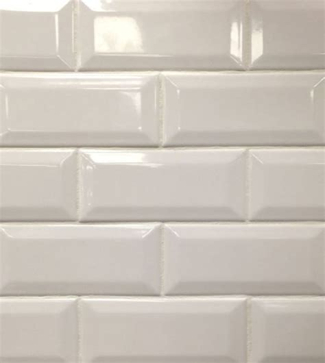 beveled subway tile backsplash white beveled subway tile our new home
