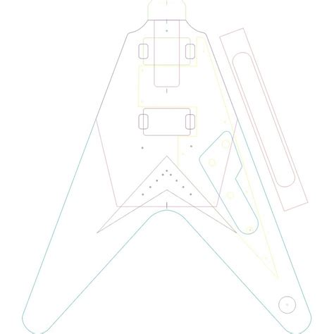 1958 flying v body routing template set