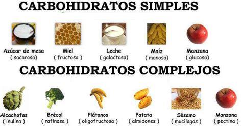 proteinas o carbohidratos tipos de carbohidratos simples y complejos