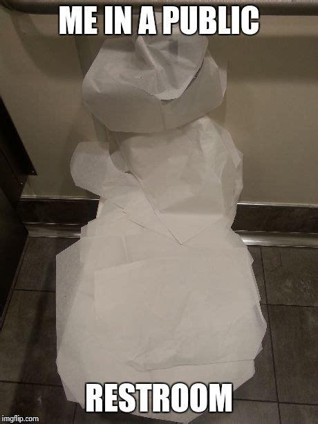 public bathroom meme public restrooms imgflip