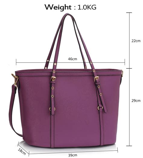 Theory Buckle Detail Tote by Ls00424 Purple Buckle Detail Tote Bag