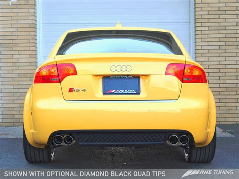 audi rs4 exhaust awe tuning audi rs4 performance exhausts and downpipes