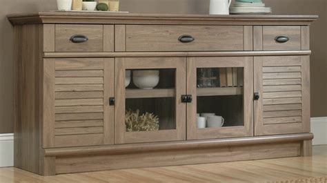 sauder harbor view dresser salt oak harbor view 71 25 w entertainment credenza with