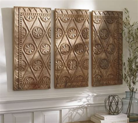 pottery barn wall murals wooden triptych wall pottery barn