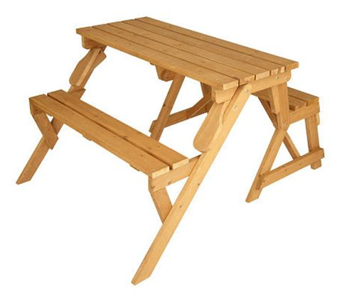hardwood picnic bench solid wood 2 in 1 picnic table garden bench qvc com