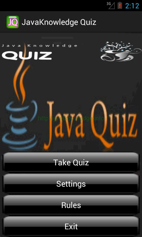 java on android javaknowledgequiz android quiz application javaknowledge
