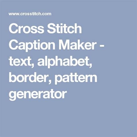 Cross Stitch Pattern Generator Words | the 25 best cross stitch pattern generator ideas on