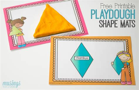printable playdough mats preschool learning with playdough shape mats living well mom