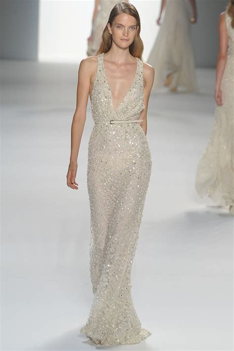 Beaded Wedding Gown by V Neck Elie Saab Beaded Wedding Dress Onewed