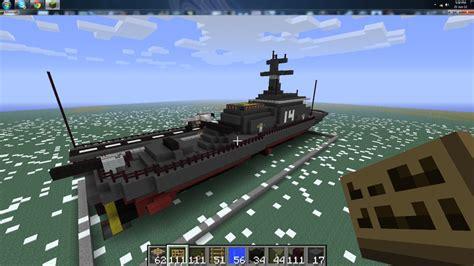 how to make a navy boat in minecraft hms artitz 70 block navy destroyer minecraft project