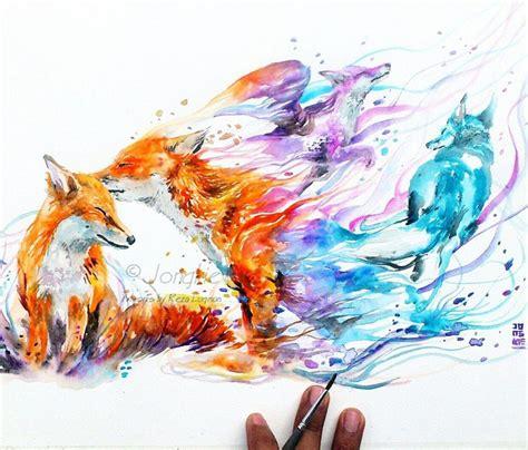 watercolor tattoo artist jakarta good bye my love by art jongkie art pinterest foxes