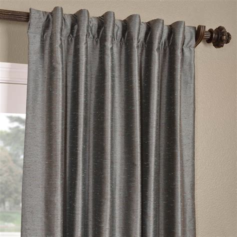 dupioni silk drapes buy pacific storm yarn dyed faux dupioni silk curtains
