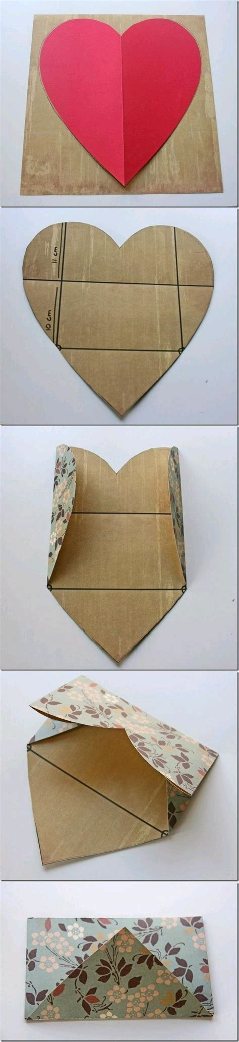 How To Make A Shaped Paper - diy easy envelope from shaped paper home diy