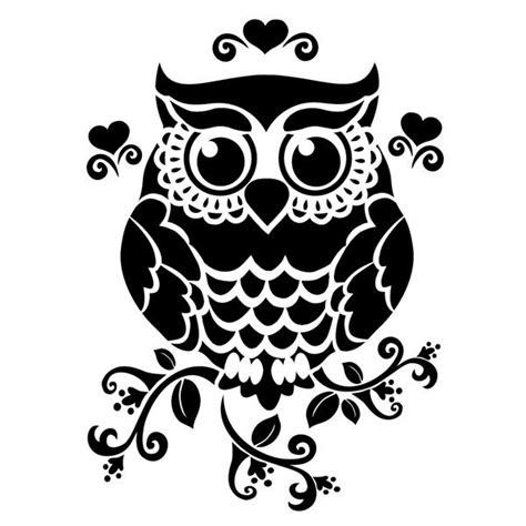black and white owl pattern pin by cecilia muller gaete on stencils pinterest