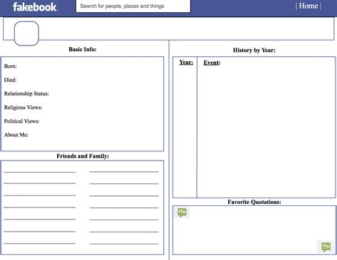 Templates In fakebook template beepmunk