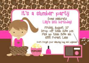 slumber party printable invitations invitation ideas