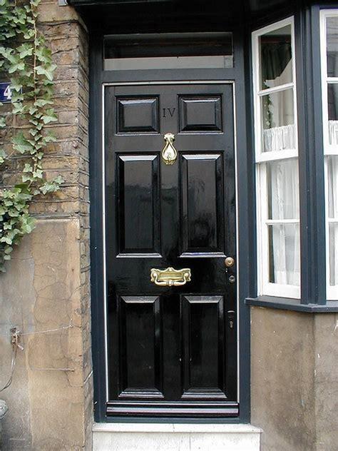 black door in the front door