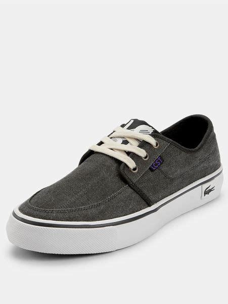 lacoste black boat shoes lacoste lacoste vaultstar mens boat shoes in black for men