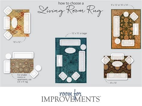 area rug size for living room selecting the best rug size for your space improvements blog