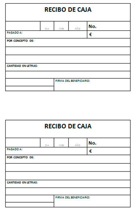 numerador automtico para facturas o recibos en excel modelo de recibo de cajas modelo plantilla