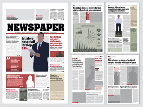 newspaper layout salary modern newpaper layout vector template 06 vector other