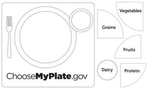 6 Best Images Of Printable Myplate Worksheet My Food Plate Worksheet Myplate Graphic Food Plate Template
