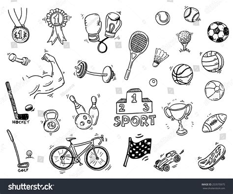 doodle sports free vector image gallery sports doodles