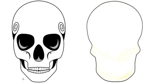 blank sugar skull template day of the dead skull templates by manxminx teaching