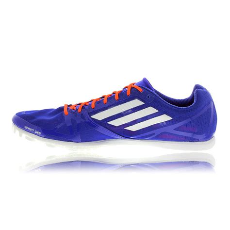 athletic running shoes spikes adidas adizero avanti 2 mens blue athletic running track