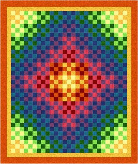 The Rainbow Quilt Pattern by Trip Around The Rainbow Quilt Pattern Bl2 136 Advanced
