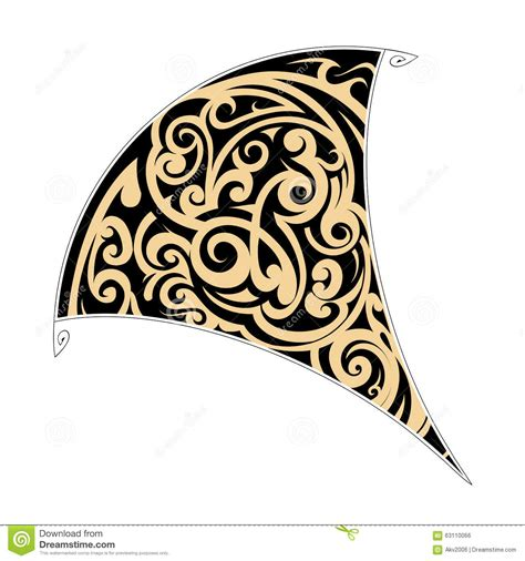 maori tribal tattoo stock vector image 63110066