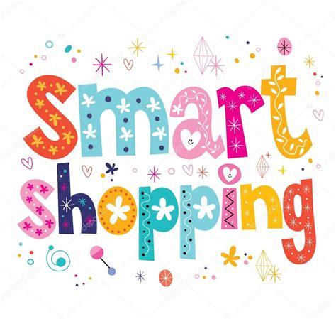 smart shopping decorative type lettering design stock - Decorative Design Types