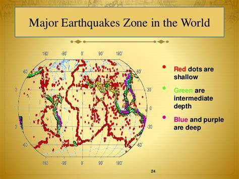 earthquake zones in the world earthquake