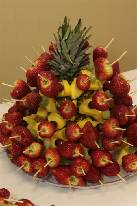 strawberry tree fruit recipes strawberry grape pineapple tree center pieces