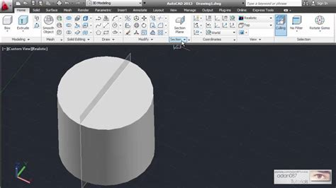 adan087 tutorials autocad creates a section object that acts as a cutting